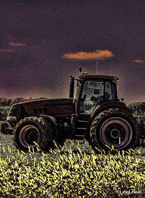 Photograph - Tractor Sunset Nbr 4 Art by Lesa Fine