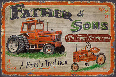 Tractors Painting - Tractor Supplies by JQ Licensing