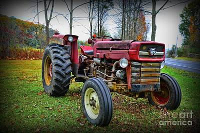 Country Scene Photograph - Tractor - The Farmers Car by Paul Ward