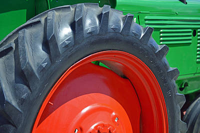 Photograph - Tractor Wheel by Frederic BONNEAU Photography
