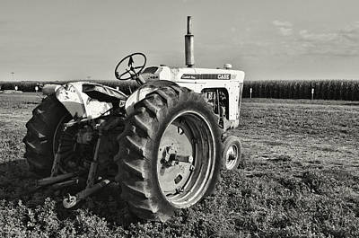 Photograph - Tractor...black And White by Tom Druin