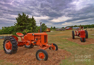 Photograph - Tractors - Case - Massey Harris by Liane Wright