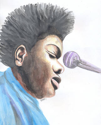 Painting - Tracy Chapman 02 by Emmanuel Baliyanga