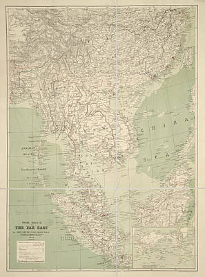 Cartography Photograph - Trade Routes In The Far East by British Library