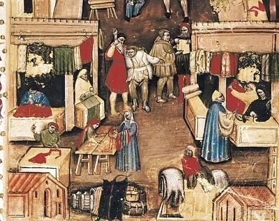 Miniature Shops Photograph - Trade Statutes. Fabric Market by Everett