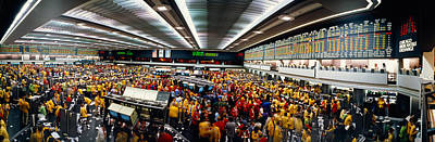 Traders In A Stock Market, Chicago Art Print by Panoramic Images