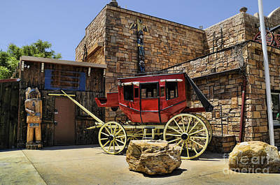 Photograph - Trading Post With Coach by Brenda Kean
