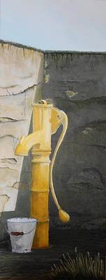 Painting - Tradional Irish Roadside Pump by Siobhan Lawson