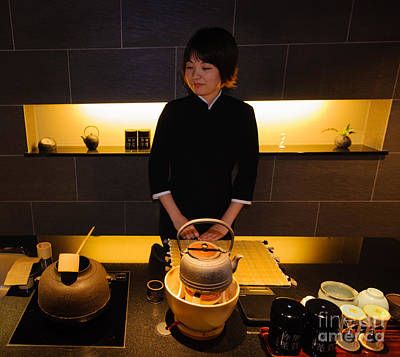 Photograph - Traditional And Modern Styles Merge - Tea Shop In Japan by David Hill