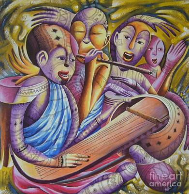 Traditional Band From East Africa  Art Print by Masoud Kibwana