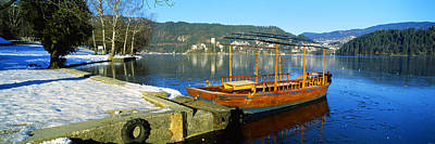 Traditional Boat Docked At A Port, Lake Art Print