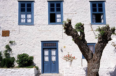 Blue Photograph - Traditional Building In Hydra Island by George Atsametakis