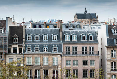 Photograph - Traditional Buildings In Paris by Mmac72