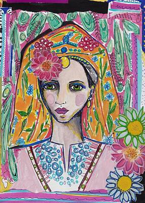 Traditional Bulgarian Folk Girl Art Print