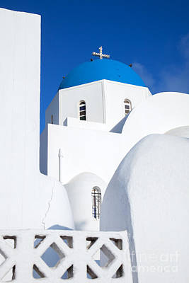 Greek Icon Photograph - Traditional Church In Santorini - Greece by Matteo Colombo