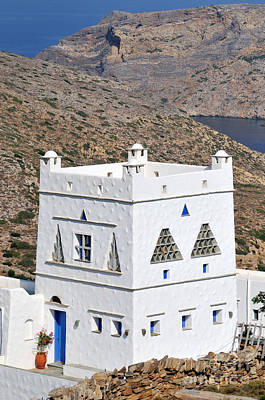 Photograph - Traditional Country House In Sifnos Island by George Atsametakis