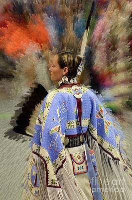 Beadwork Photograph - Pow Wow Traditional Dancer 2 by Bob Christopher