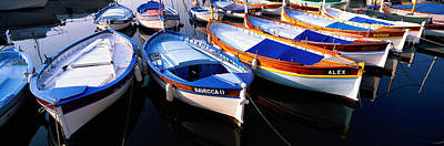 In A Row Photograph - Traditional Fishing Boats by Panoramic Images
