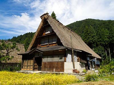 Traditional Gassho-zukuri Style House In Suganuma Village - Gokayama - Japan Art Print by Chieko Shimado