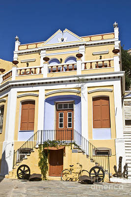 Symi Photograph - Traditional Greek Houses by IB Photo