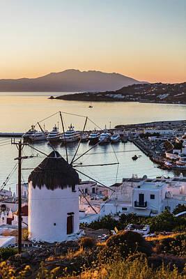 Photograph - Traditional Greek Windmill In Mykonos by Deimagine