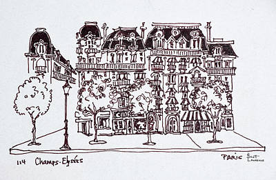 Pen And Ink Drawing Photograph - Traditional Haussmann Architecture by Richard Lawrence
