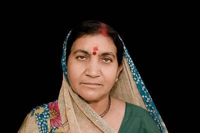 Photograph - Traditional Hindu Woman by Nila Newsom