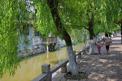 Canal Walk Photograph - Traditional Houses Along The Grand by Keren Su