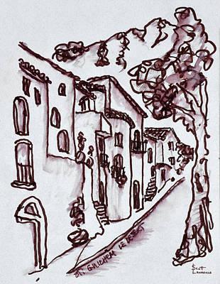 Traditional Houses Line The Street Art Print