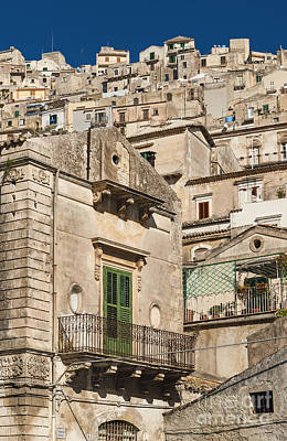 Traditional Houses Of Modica In Sicily Italy Art Print