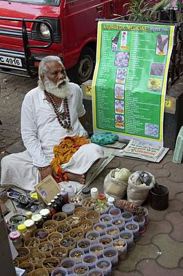 Traditional Indian Medicine Seller Art Print by Mark Williamson