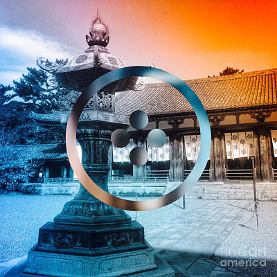 Abstruse Digital Art - Traditional Japanese Garden Lantern by Beverly Claire Kaiya