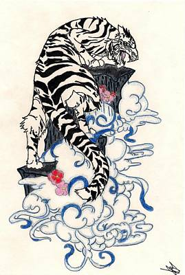Traditional Japanese Style Tiger Original
