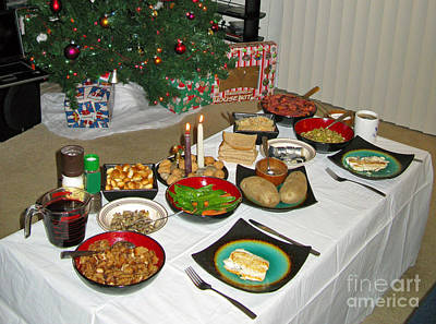 Photograph - Traditional Lithuanian Christmas Eve Dinner With American Twist by Ausra Huntington nee Paulauskaite