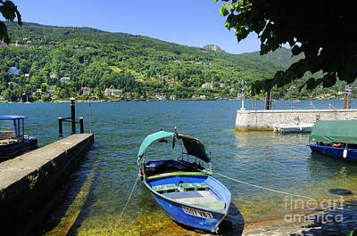 Traditional Lucia Fishing Boat On Lake Maggiore Art Print by Brenda Kean