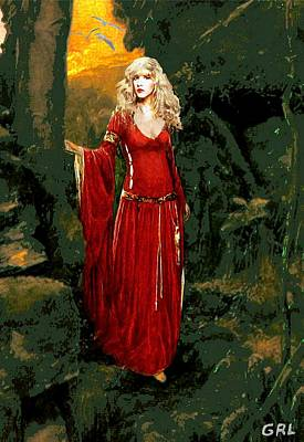 Art Print featuring the painting Traditional Modern Original Painting Stevie Nicks Rhiannon by G Linsenmayer