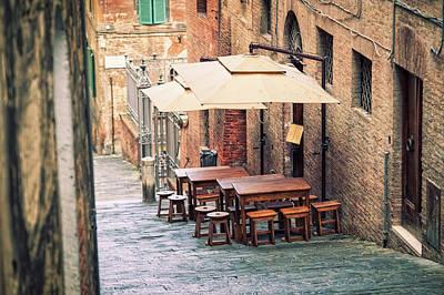 Pub Photograph - Traditional Restaurant In Siena, Tuscany by Cirano83