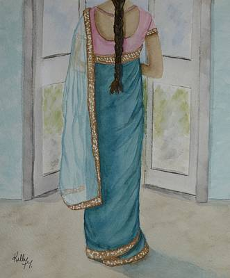 Painting - Traditional Sari by Kelly Mills