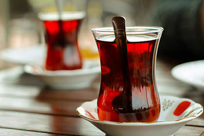 Traditional Turkish Tea Art Print by Suzanne Morris