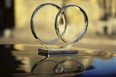 Custom Ring Photograph - Traditional Wedding Rings On Car Roof by David Litschel