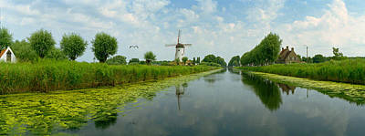 Belgium Photograph - Traditional Windmill by Panoramic Images