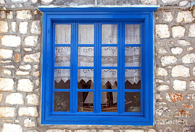 Traditional Window In Hydra Island Art Print