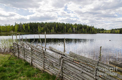 Photograph - Traditional Wooden Fence by Kennerth and Birgitta Kullman