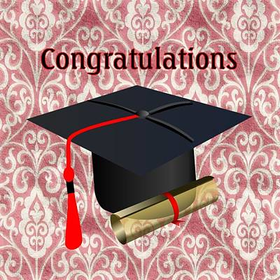 Digital Art - Traditonal Graduation  by Florene Welebny