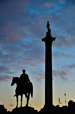 Wall Art - Photograph - Trafalgar Square At Sunset by Steven Richman