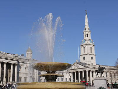 Trafalgar Square Fountain. Art Print