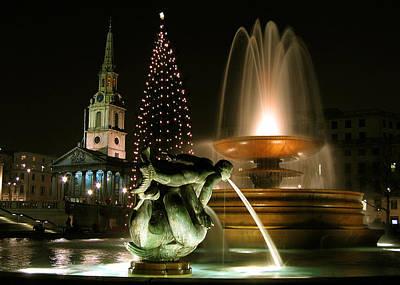 Photograph - Trafalgar Square by Helene U Taylor