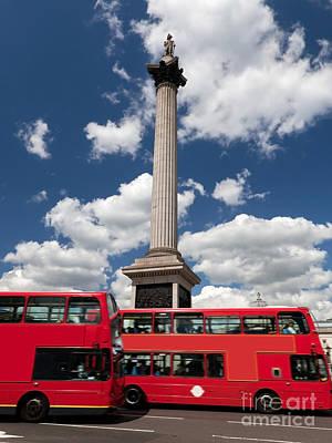 Destination Photograph - Trafalgar Square In London The Uk by Michal Bednarek