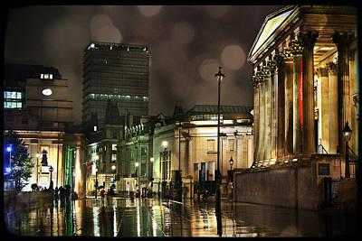 Photograph - Trafalgar Square Rain by Heidi Hermes
