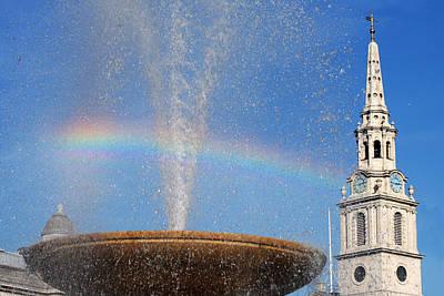Photograph - Trafalgar Square Rainbow Horizontal by Heidi Hermes